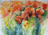 Original watercolor painting 45x34 c