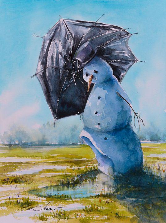 The sad fate of a snowman. - Eve Mazur