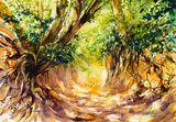 Original watercolor painting 51 x 36
