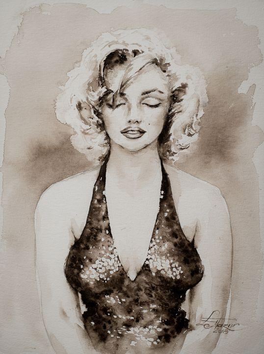 Portrait of Marylin Monroe - Eve Mazur