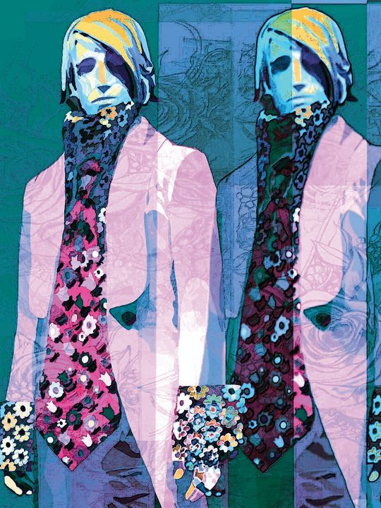Boys in the Ouchy Pink Flower Jacket - Kathleen Ross