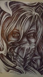 Girl masked