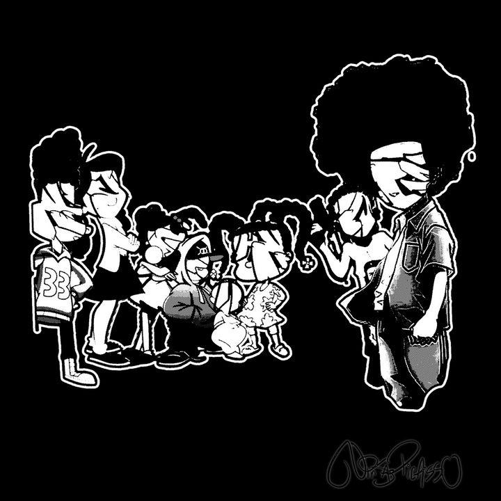 """We Don't Die"" Black & White Version - Ninja Picasso"
