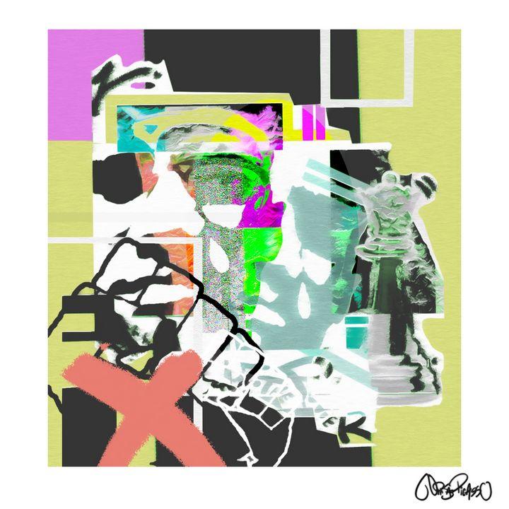 """X"" Color version - Ninja Picasso"