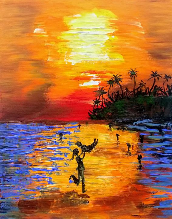 Sunset at the beach - Hems