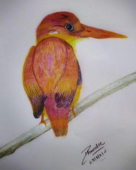 Color pencil art - Hems