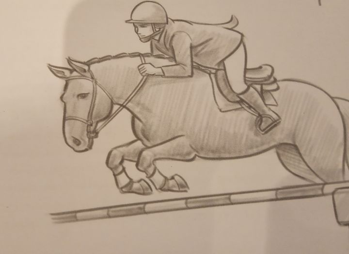 Showjumping - Amy's horse art