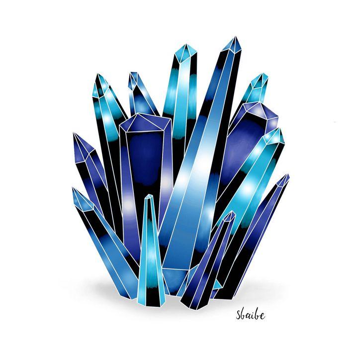 Crystal Cluster (Blue) - sbaibe