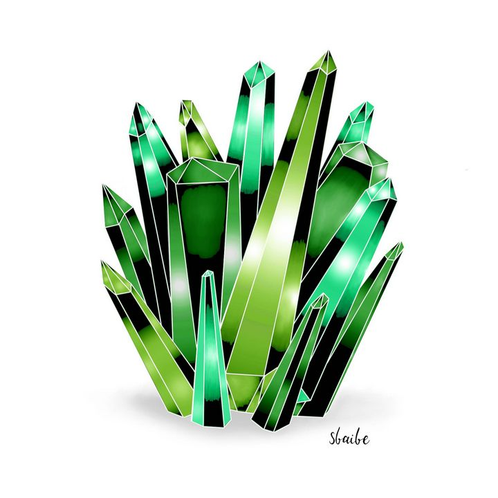 Crystal Cluster (Green) - sbaibe