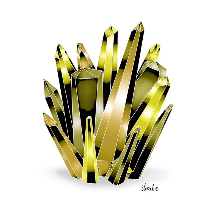 Crystal Cluster (Yellow) - sbaibe