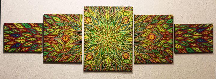 Quintiptic : colorful diffusion - Jonathan Pradillon