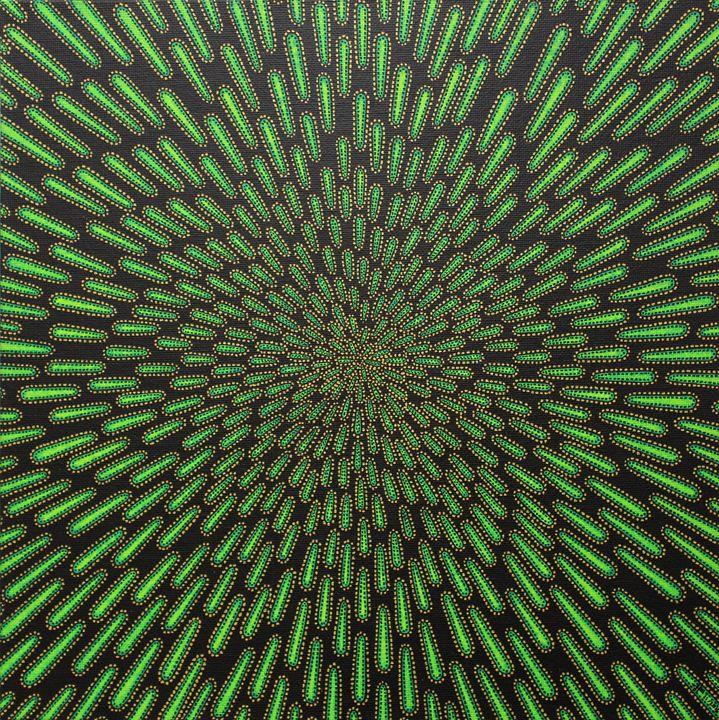 Green particle - Jonathan Pradillon