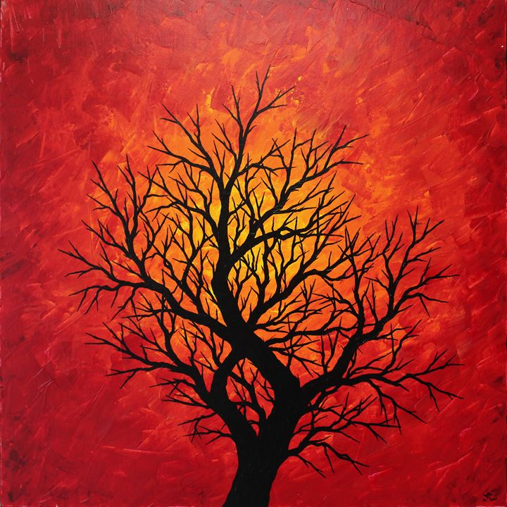 Warm tree silhouette - Jonathan Pradillon