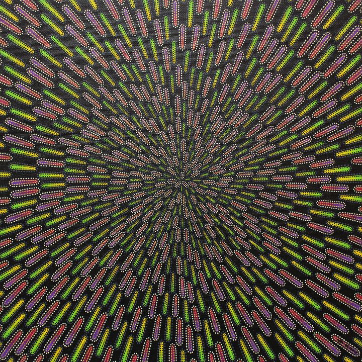 Greenish and Purple Particle - Jonathan Pradillon