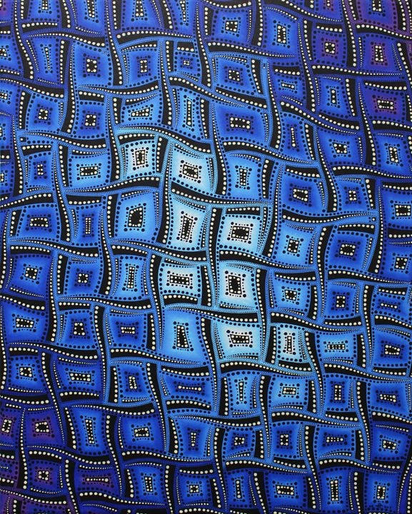 Bluish color movements - Jonathan Pradillon
