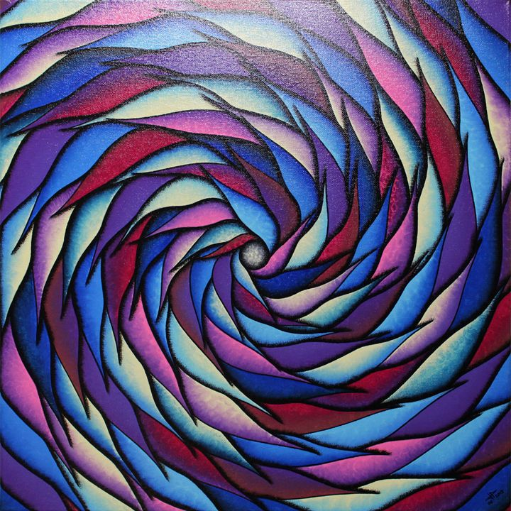 Blueish and purplish spiral - Jonathan Pradillon