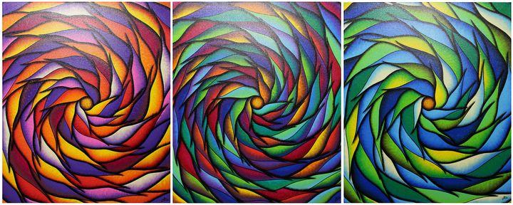 Colorful Spirals Series 5 - Jonathan Pradillon