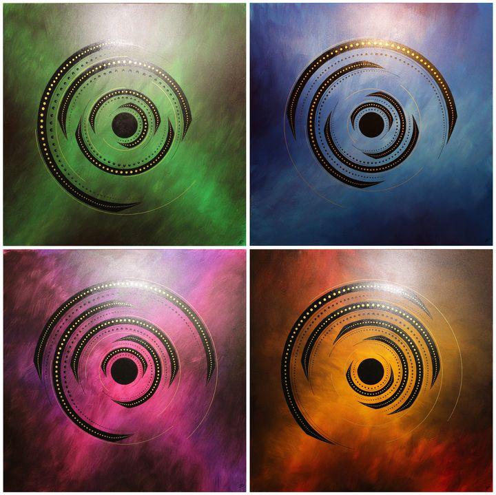 Rotations of colors - Jonathan Pradillon