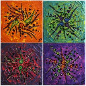 Sense of colorful movements
