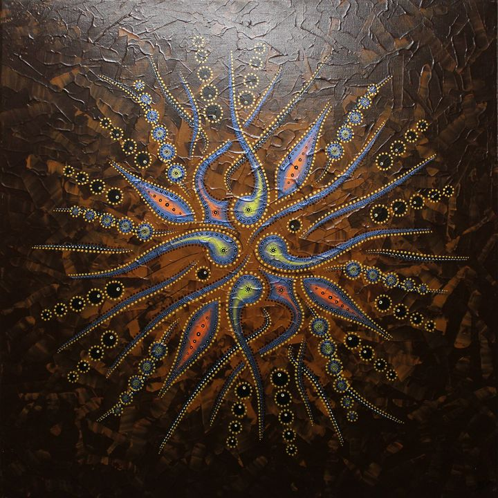 Abstract shapes movement / Brown - Jonathan Pradillon