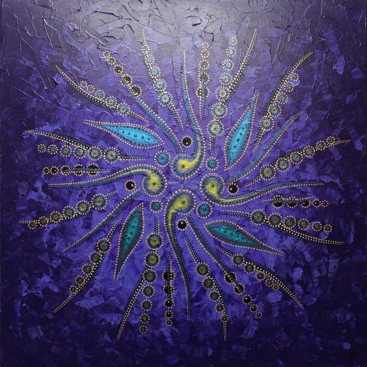 Abstract shapes movement / Purple - Jonathan Pradillon