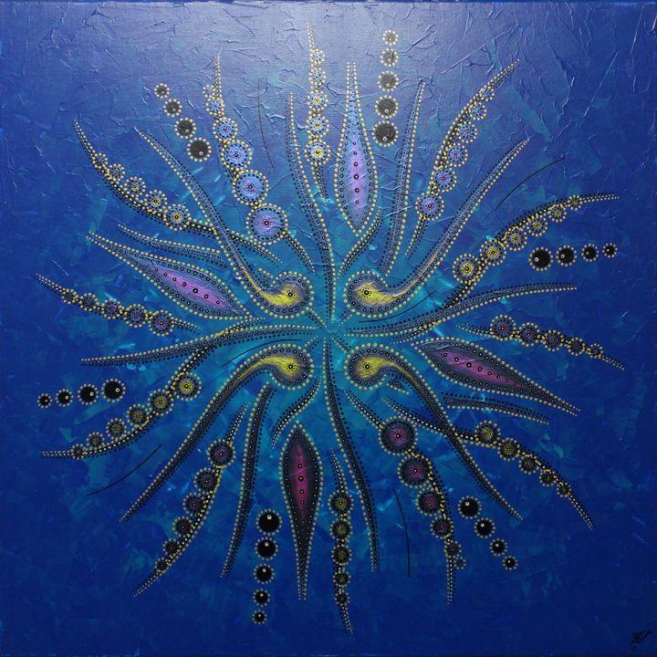 Abstract shapes movement / Blue - Jonathan Pradillon