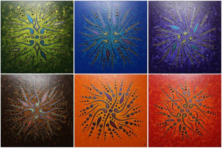 Abstract Shape Movements / Colors - Jonathan Pradillon