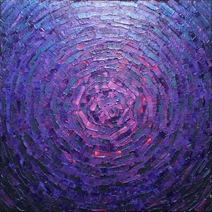Shine iridescent violet pink glow