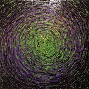 Shine of green purple color