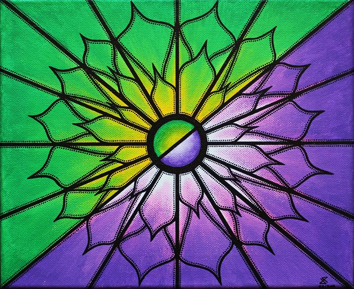 Purple and green - Jonathan Pradillon