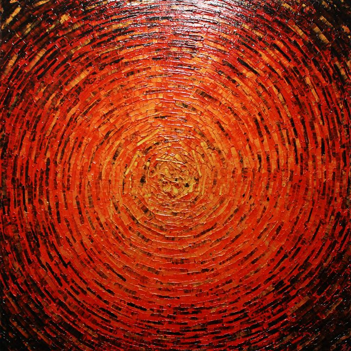 Shine of gold red vermilion color - Jonathan Pradillon