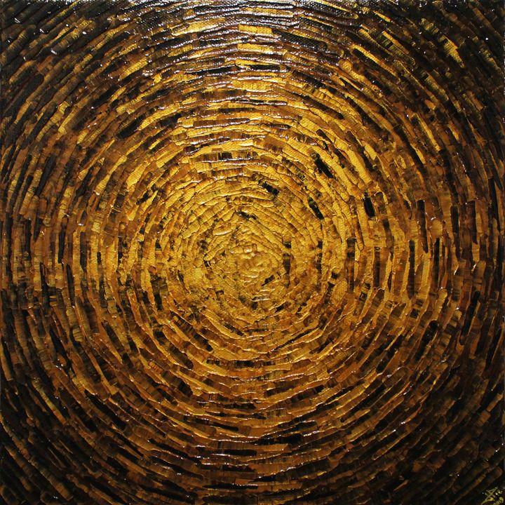Burst of gold brown color - Jonathan Pradillon
