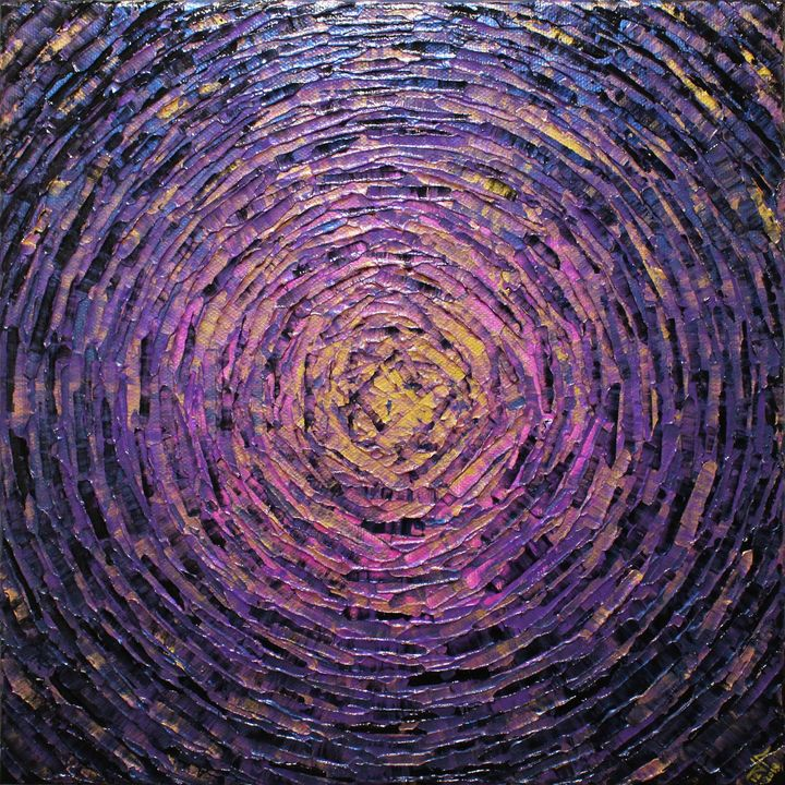 Burst of gold purple color - Jonathan Pradillon