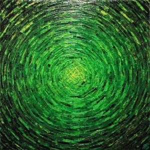 Burst of verdant color