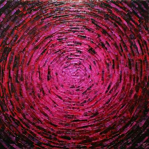 Burst of pink red color
