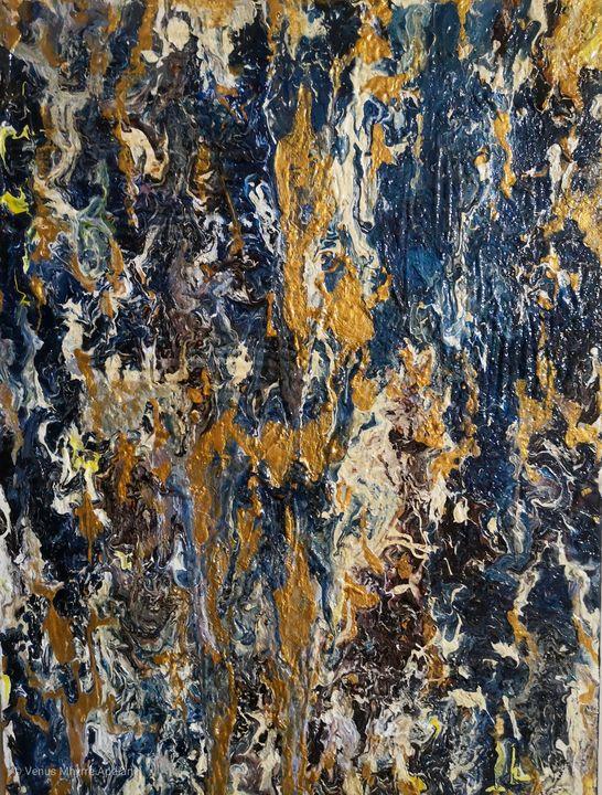 Gold in Blue - Venus Apdian's Art