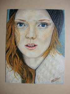 The girl with ginger hair
