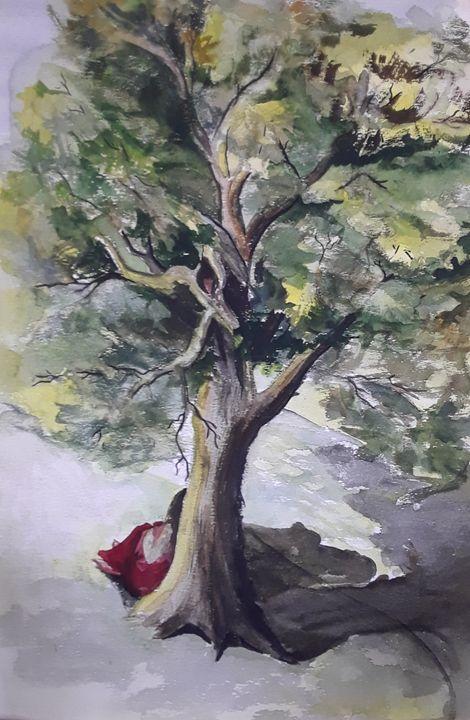 Belle Underneath a Tree - A Hart of Art