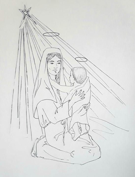 Religious Scene - A Hart of Art