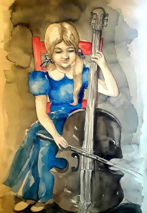 Cello Girl - A Hart of Art