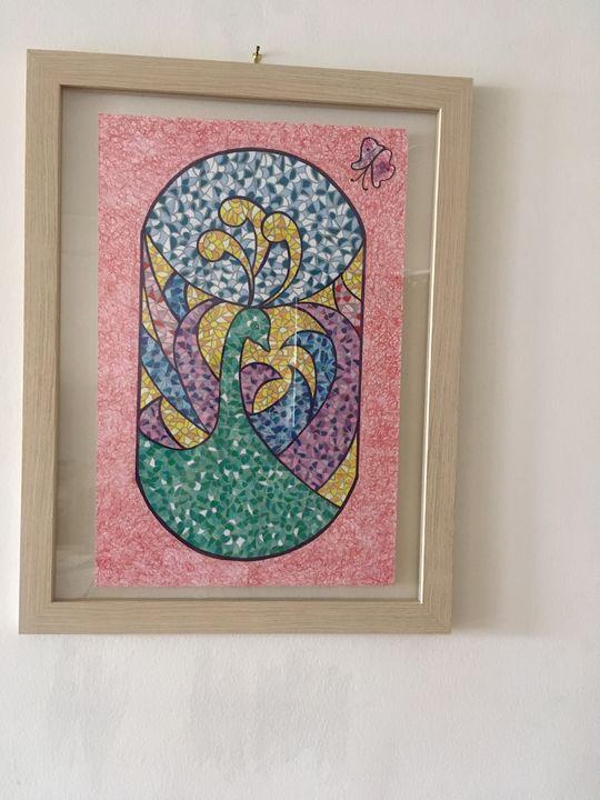 mosaic swan - Julia Balk Drawings