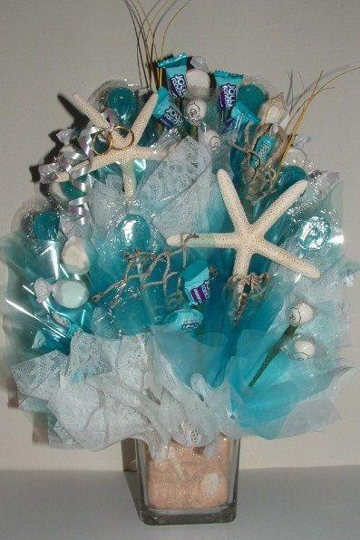 Beach WEDDING CENTERPIECE-Edible $49 - Candy Florist