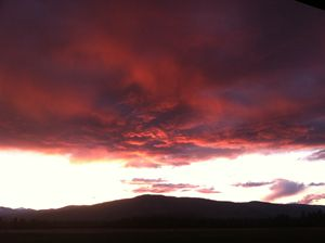 Sunset in Colville