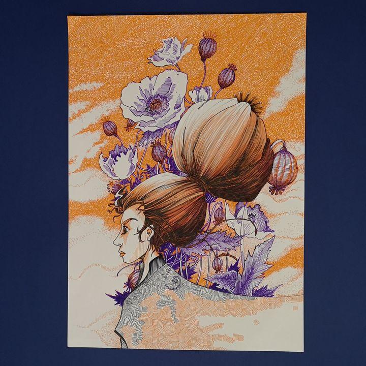 Fleur de Pavot - Stetiar Illustrations