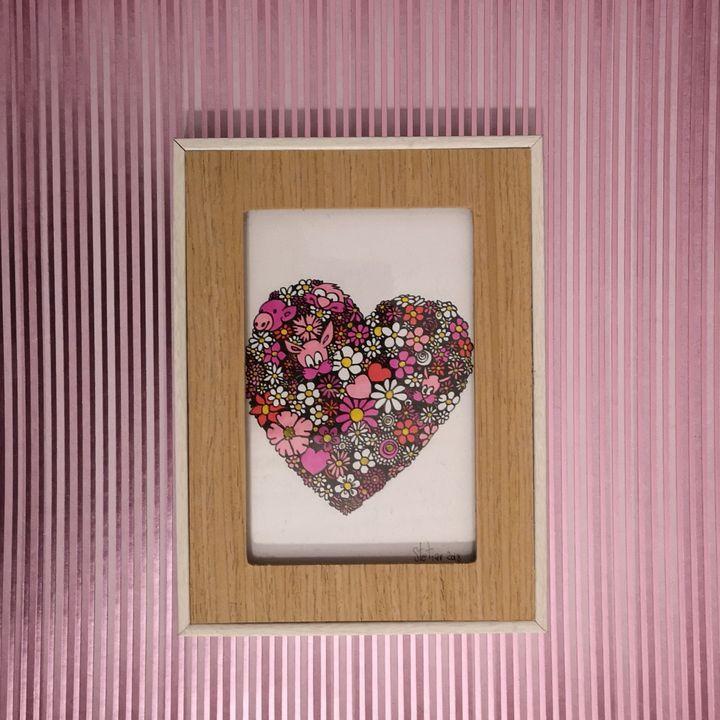 Illustration sur papier Coeur en fle - Stetiar Illustrations