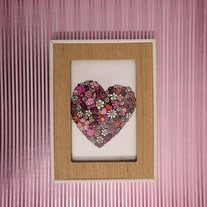 Illustration sur papier Coeur en fle