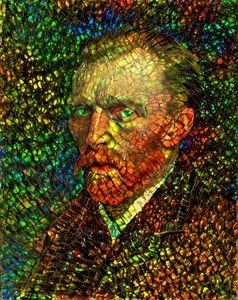 Van Gogh, a self portrait recreated
