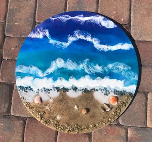 "23"" resin beach art"