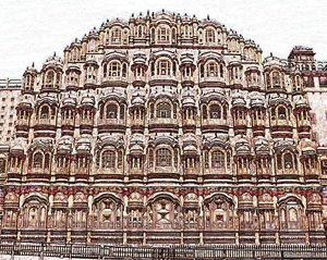 Jaipur Pink City Digital Color Image