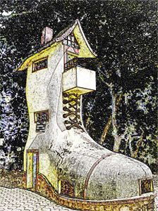 Shoe House Digital Image